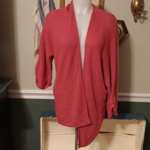 Staccato pink M/L open cardigan knit